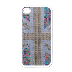 Multicoloured Union Jack Apple Iphone 4 Case (white)