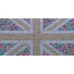 Multicoloured Union Jack You Are Invited 3d Greeting Card (8x4)
