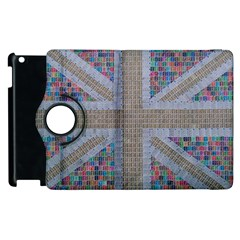 Multicoloured Union Jack Apple Ipad 2 Flip 360 Case by cocksoupart
