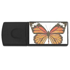 Butterfly Usb Flash Drive Rectangular (4 Gb)  by cocksoupart