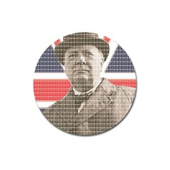Churchill 1 Magnet 3  (round) by cocksoupart