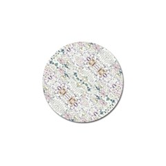 Oriental Floral Ornate Golf Ball Marker by dflcprints