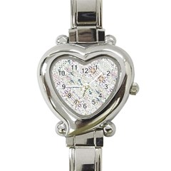 Oriental Floral Ornate Heart Italian Charm Watch by dflcprints