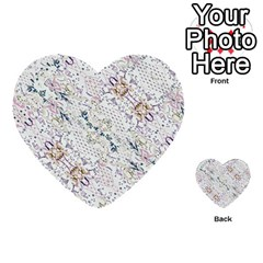 Oriental Floral Ornate Multi Purpose Cards (heart)  by dflcprints