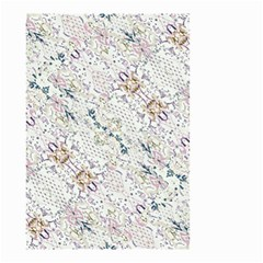 Oriental Floral Ornate Small Garden Flag (two Sides) by dflcprints