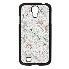 Oriental Floral Ornate Samsung Galaxy S4 I9500/ I9505 Case (black) by dflcprints