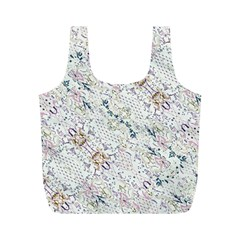 Oriental Floral Ornate Full Print Recycle Bags (m)  by dflcprintsclothing