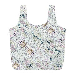 Oriental Floral Ornate Full Print Recycle Bags (l)  by dflcprintsclothing