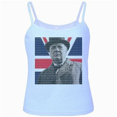 Winston Churchill Baby Blue Spaghetti Tank by cocksoupart