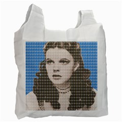 Over The Rainbow   Blue Recycle Bag (two Side)  by cocksoupart