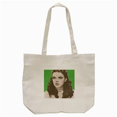 Over The Rainbow   Green Tote Bag (cream) by cocksoupart