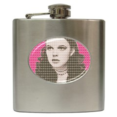 Over the Rainbow - Pink Hip Flask (6 oz) by cocksoupart