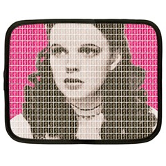 Over the Rainbow - Pink Netbook Case (Large) by cocksoupart