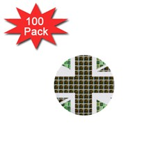 Green Flag 1  Mini Buttons (100 Pack)  by cocksoupart