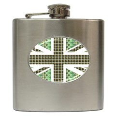 Green Flag Hip Flask (6 oz) by cocksoupart