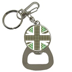 Green Flag Bottle Opener Key Chains