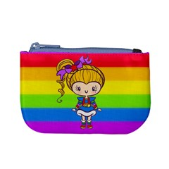 Rainbow Cutie Coin Change Purse by Ellador