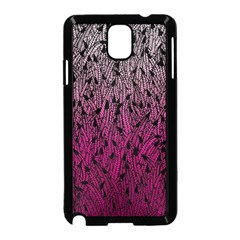 Pink Ombre Feather Pattern, Black, Samsung Galaxy Note 3 Neo Hardshell Case (black) by Zandiepants
