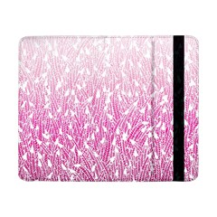 Pink Ombre Feather Pattern, White, Samsung Galaxy Tab Pro 8 4  Flip Case by Zandiepants