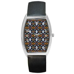 Stones Pattern Barrel Style Metal Watch