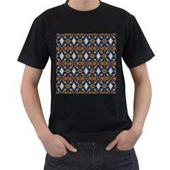 Stones Pattern Men s T Shirt (black) (two Sided)