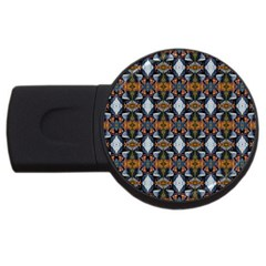 Stones Pattern Usb Flash Drive Round (4 Gb)
