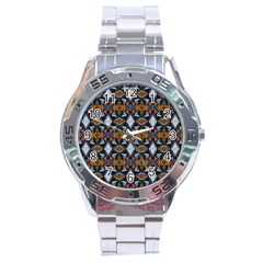 Stones Pattern Stainless Steel Analogue Watch by Costasonlineshop