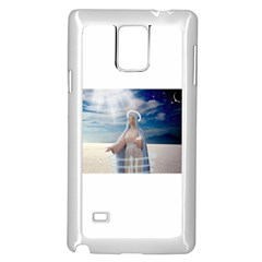 Our Mother Mary Samsung Galaxy Note 4 Case (White) by jackiepopp