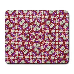 Boho Check Large Mousepads by dflcprints