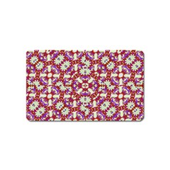 Boho Check Magnet (name Card) by dflcprints