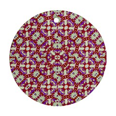 Boho Check Round Ornament (two Sides)  by dflcprints