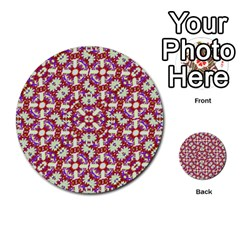 Boho Check Multi Purpose Cards (round)  by dflcprints