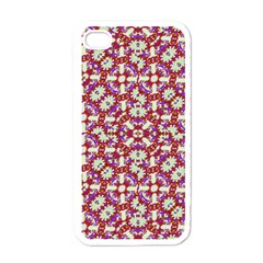 Boho Check Apple Iphone 4 Case (white) by dflcprints