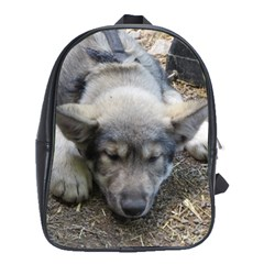 Wolf pup School Bags(Large)  by jackiepopp