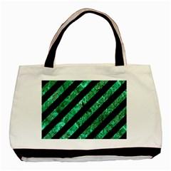 STR3 BK-GR MARBLE Basic Tote Bag (Two Sides)