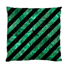Stripes3 Black Marble & Green Marble Standard Cushion Case (two Sides) by trendistuff