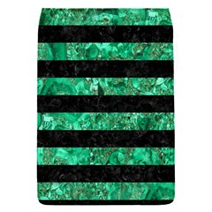 Stripes2 Black Marble & Green Marble Removable Flap Cover (s) by trendistuff