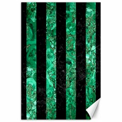 Stripes1 Black Marble & Green Marble Canvas 20  X 30  by trendistuff