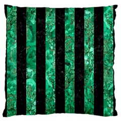 Stripes1 Black Marble & Green Marble Standard Flano Cushion Case (one Side) by trendistuff