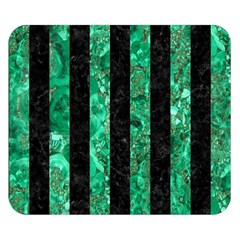Stripes1 Black Marble & Green Marble Double Sided Flano Blanket (small)