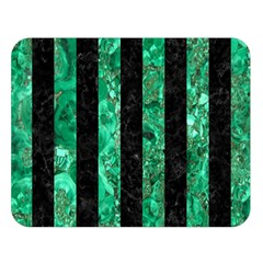 Stripes1 Black Marble & Green Marble Double Sided Flano Blanket (large) by trendistuff