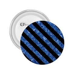 Stripes3 Black Marble & Blue Marble (r) 2 25  Button by trendistuff
