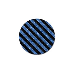 Stripes3 Black Marble & Blue Marble (r) Golf Ball Marker (10 Pack) by trendistuff