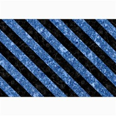 Stripes3 Black Marble & Blue Marble (r) Collage 12  X 18