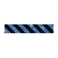 Stripes3 Black Marble & Blue Marble (r) Flano Scarf (mini)