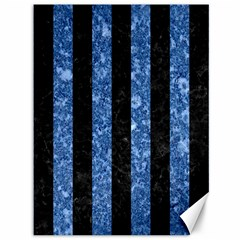 Stripes1 Black Marble & Blue Marble Canvas 36  X 48  by trendistuff