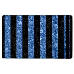 Stripes1 Black Marble & Blue Marble Apple Ipad 2 Flip Case by trendistuff