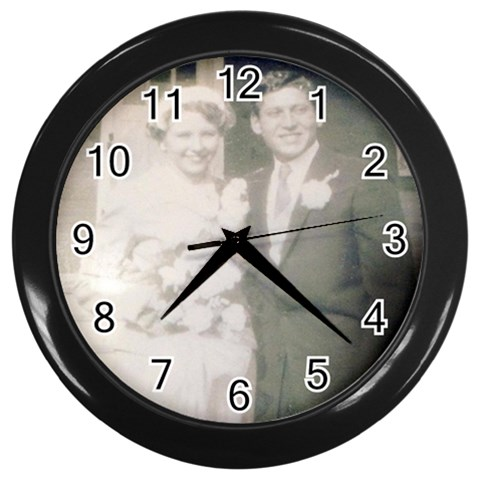 By Claudia   Wall Clock (black)   928vhz3x4ofr   Www Artscow Com Front