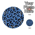 SKIN5 BLACK MARBLE & BLUE MARBLE Playing Cards 54 (Round) Front - Club4
