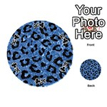 SKIN5 BLACK MARBLE & BLUE MARBLE Playing Cards 54 (Round) Front - ClubK